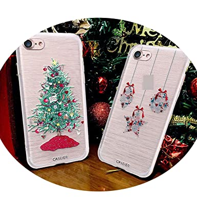 Amazon.com: Christmas Style Case for iPhone 6 6s 7 8 Plus Silicone 3D Year Cases for iPhone X 10 5 5s SE Cover Soft Conque Shell,Christmas Bottle,for iPhone ...