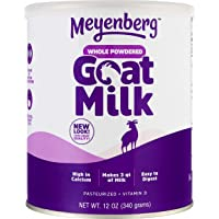 Meyenberg Whole Powdered Goat Milk (12 Ounce), Gluten Free, Non GMO, Vitamin D