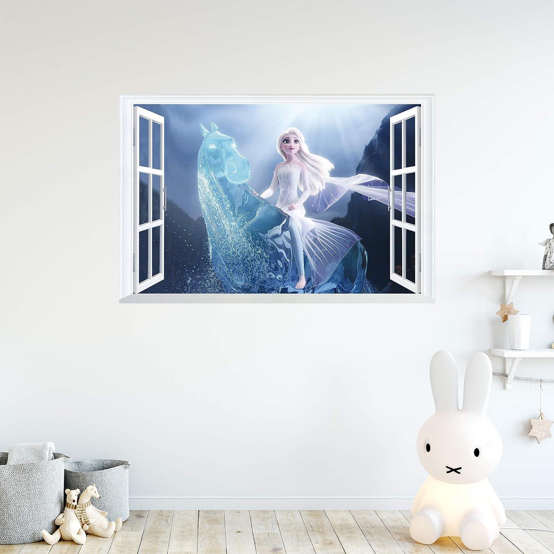 Kibi 2 adhesivos de pared con dise/ño de Frozen adhesivo de pared para ni/ños y ni/ños dise/ño de Frozen para dormitorio o habitaci/ón de los ni/ños