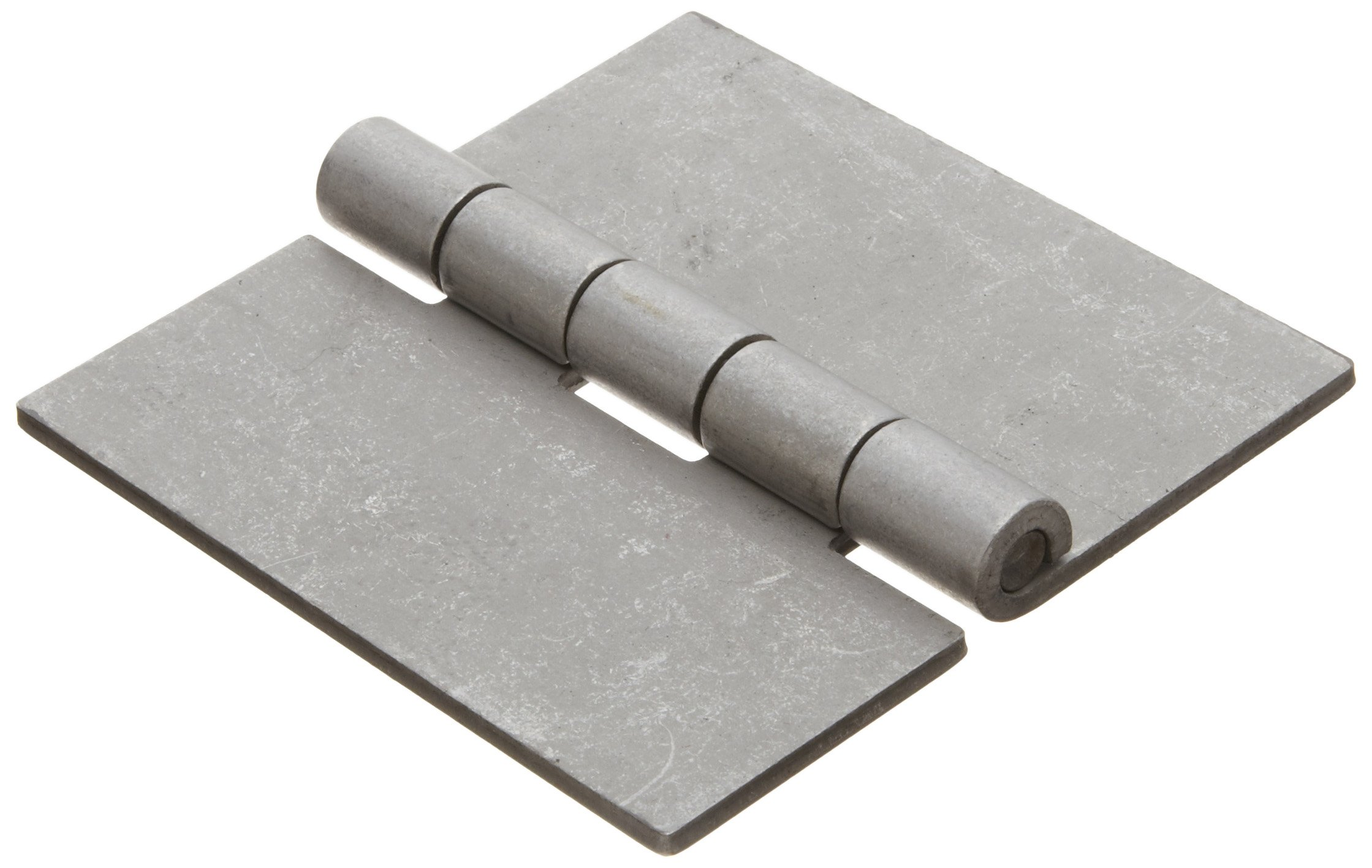Steel Surface Mount Butt Hinge without Hole, Unplated Finish, 0.130'' Leaf Thickness, 3-29/32'' Open Width, 17/64'' Pin Diameter, 4'' Long, Removable Pin (Pack of 1)