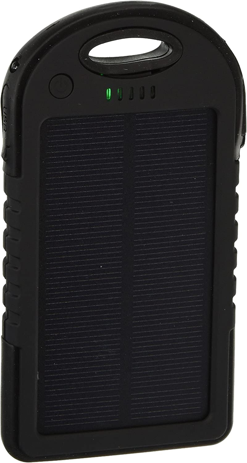 Powercam 10,000 mAh Blue Android Samsung Phones iPads for iPhones Shockproof GPS Devices and Cameras Drop Resistant Solar Charger Waterproof