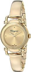 Salvatore Ferragamo Women's 'GANCINO Casual' Quartz Tone and Gold Plated Watch(Model: SFDC00618)