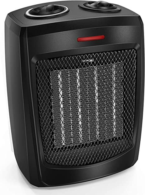 Normal Fan and Safety Tip Over Switch 750W//1500W Portable Electric Heater with Adjustable Thermostat 2021 Space Heater Black