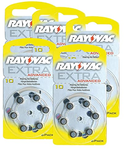 30x Typ 10 Extra Hörgerätebatterien Zink-luft 105mah Rayovac Elektromaterial