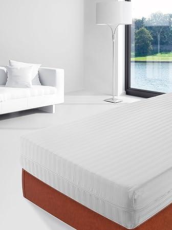 Savel, Funda colchón 100% algodón listado, 90x190cm (para camas de 90): Amazon.es: Hogar