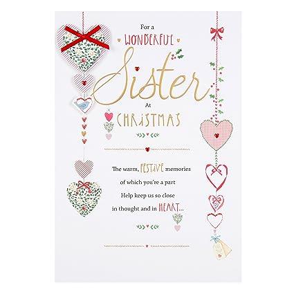 Tarjeta navideña Hallmark para hermana, grande: Amazon.es: Oficina ...