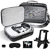 SARLAR Fashion Travel Protective Case for Oculus Quest VR Gaming Headset and Touch Controllers Accessories Carrying Bag,Inclu