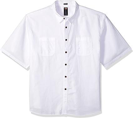 Dickies Hombre WS528 Big Manga Corta Camisa de Botones - Blanco - 3X: Amazon.es: Ropa y accesorios