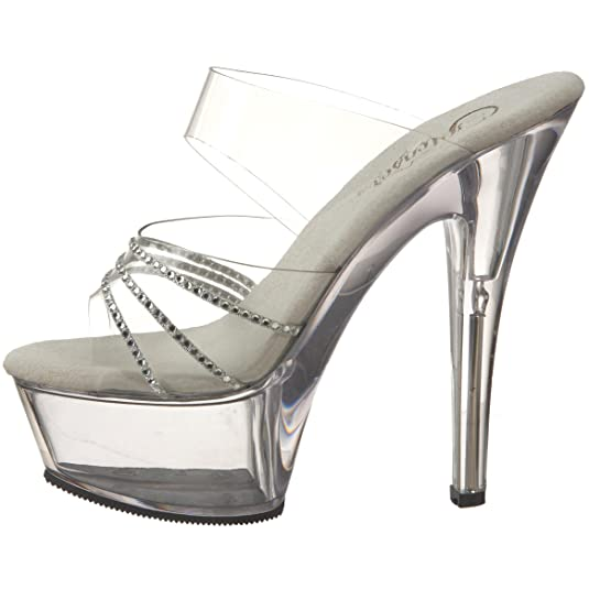 Clearance Cheapest Discount Purchase Pleaser Kiss 202R(Women's) -Clear/Rhinestones/Clear Really For Sale 6Bq27X