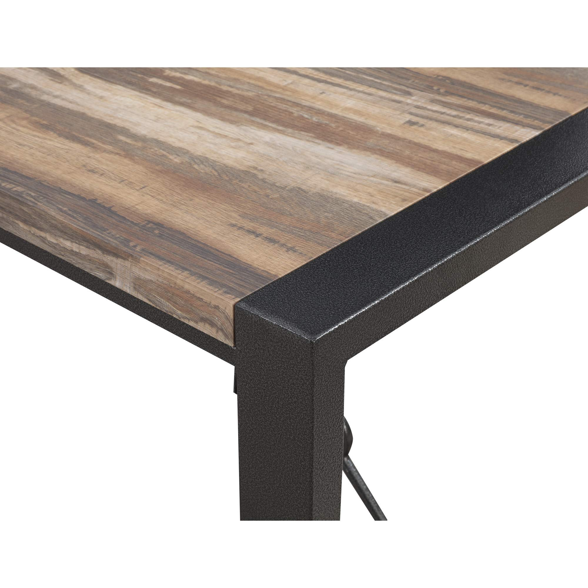 Taras 59'' Dining Table in Jet Black with Wood Veneer Top And Metal Base, by Artum Hill by Artum Hill (Image #4)