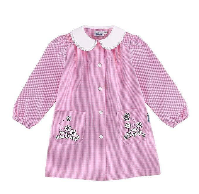 siggi Grembiule Scuola Giokit Asilo Bambina Colore Quadretto Rosa  Personalizzabile. La stampa può essere ricolorata piu volte dopo il  lavaggio. 9defcd6ccf3