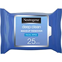 Neutrogena, Makeup Remover, Facial Wipes, Deep Clean, Pack of 25 wipes