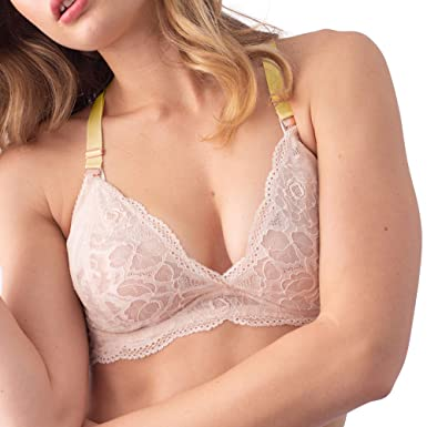 082ee192b775d Image Unavailable. Image not available for. Color  Heroine Plunge Shell  Lemonade Nursing Bra - Flexi Underwire