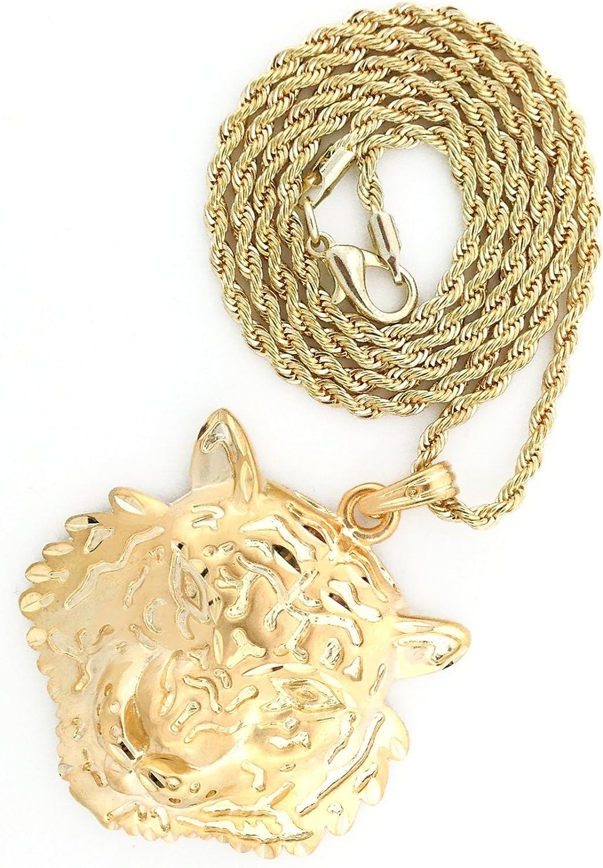 "24/"" Franco Chain Necklace /& Earring Hip Hop Iced Out Micro Medusa Head Pendant"