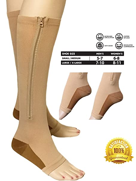 Health & Beauty Medical & Mobility Copper Infused Compression Socks Unisex 5 Pair Nip