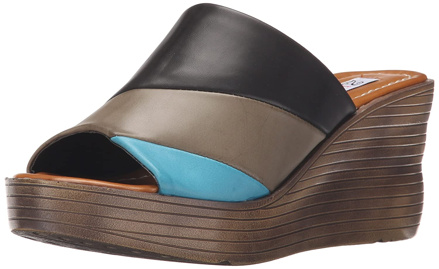 2 Lips Too Women's Too Albany Wedge Sandal B01CRWF8S2 8.5 B(M) US|Black