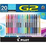 Pilot G2 Premium Retractable Gel Ink Rolling Ball Pens, Fine Point, Assorted Ink