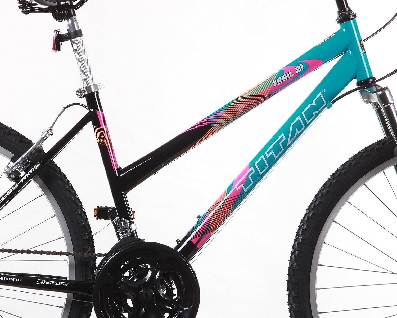 Titan Trail 21-Speed Suspension Womens Mountain Bike 17-Inch