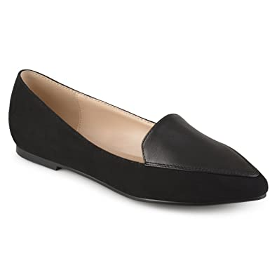 8c0830accf6a Journee Collection Womens Pointed Toe Loafer Flats Black