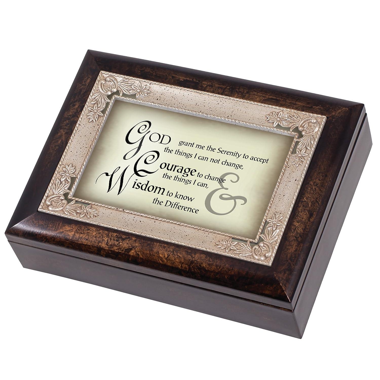 人気提案 The Serenity Prayer Dark B010CCI42Q Wood Amazing Finish Jewellery Music Music Box Plays Tune Amazing Grace B010CCI42Q, シャドウマジック:147aa227 --- arcego.dominiotemporario.com