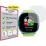 EnWi Glass Panzerfolie 9H EXTREM Harte Displayschutzfolie 2 STÜCK für XPLORA Kids Smartwatch Telefonuhr