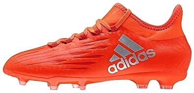cheap for discount f9616 44008 adidas X 16.1 FG, Botas de fútbol para Niños, (Solar Silver Metallic