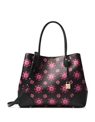 a7f3f962722b Amazon.com: Michael Kors Mercer Corner Studio Top Zip Tote - Black/Ultra  Pink: Shoes