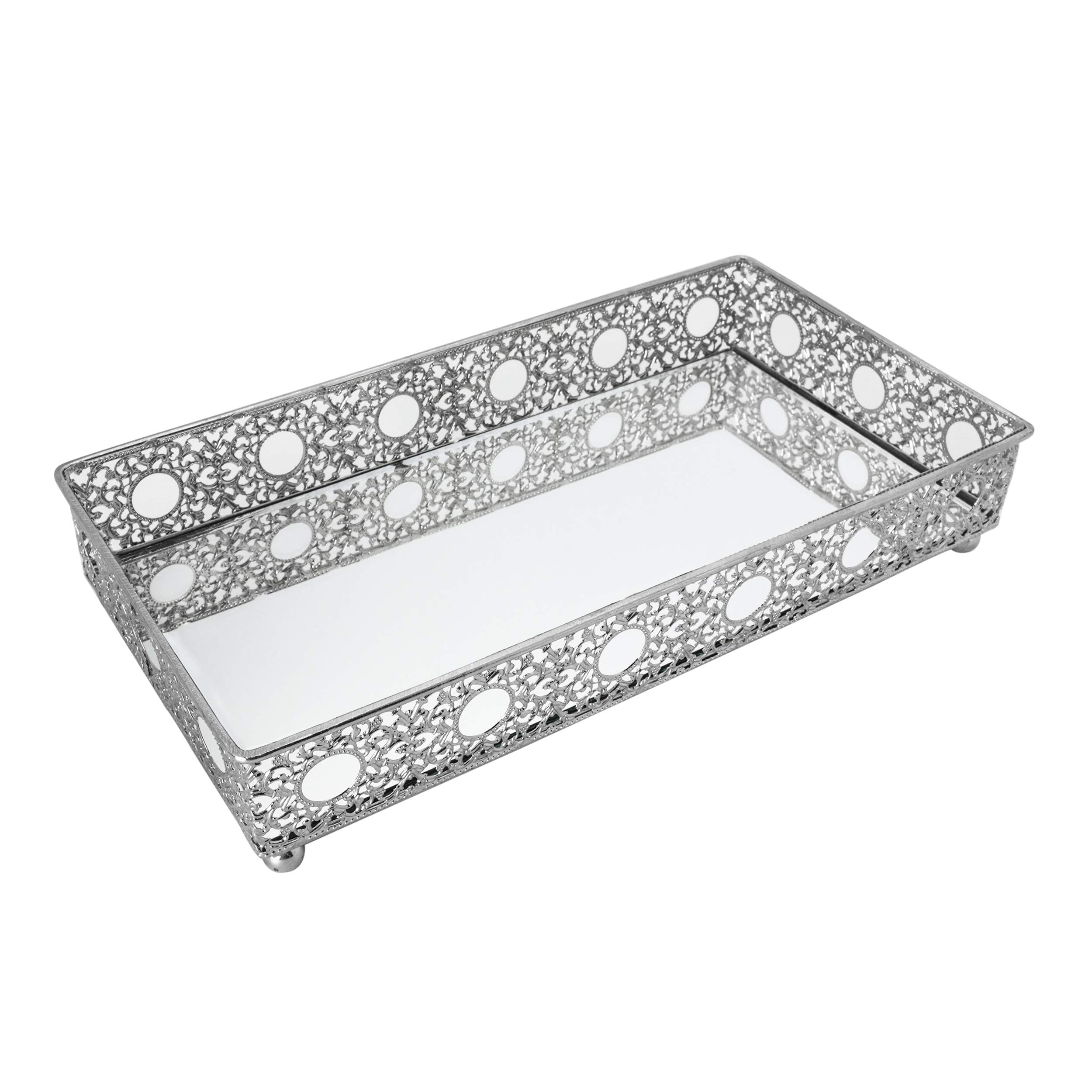Bathroom Vanity Tray, Decorative Tray, Mirror Tray. Perfume Collection Tray by O-Plus