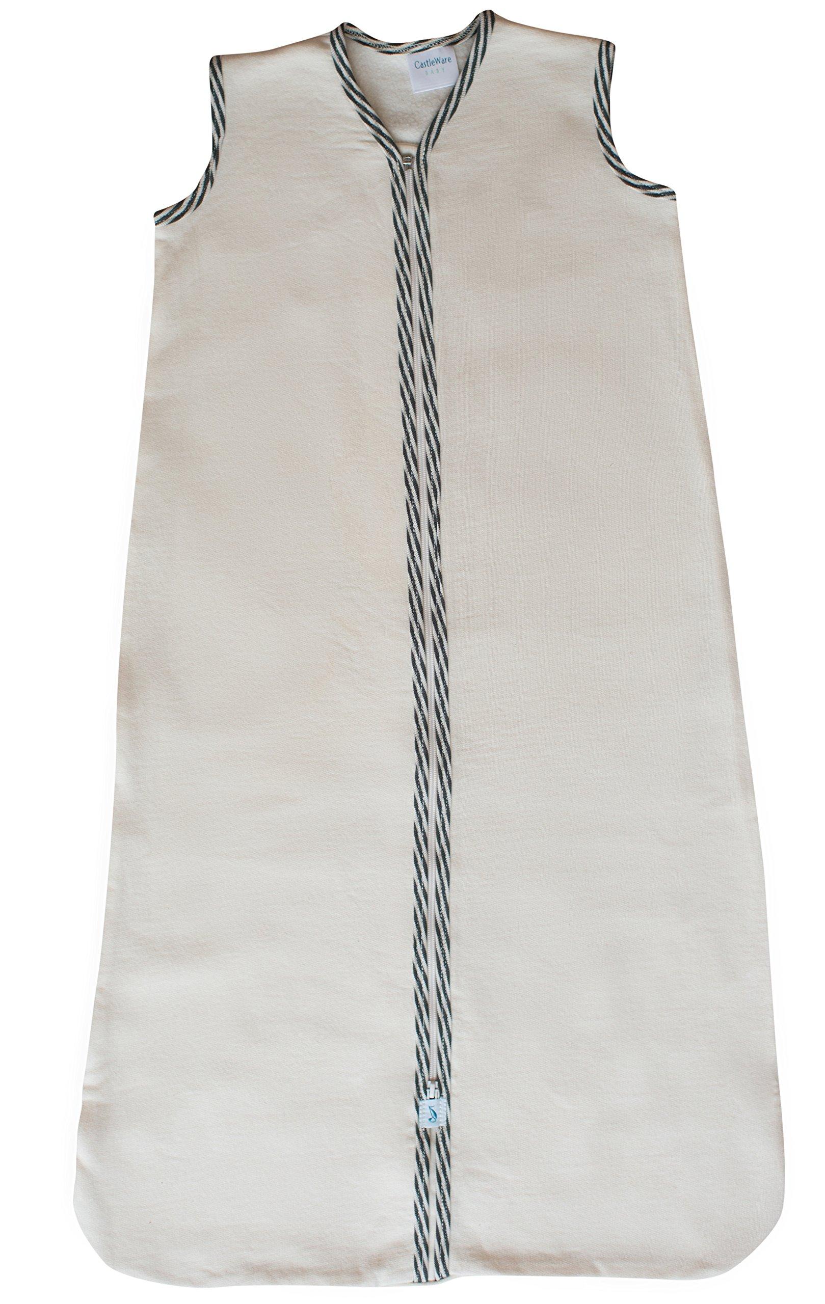 CastleWare Baby Sleeveless Fleece Sleeper Bag (XXL 18-36 Months, Charcoal Grey Stripe) by CastleWare Baby