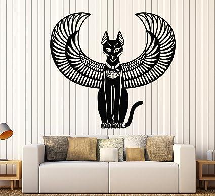 Amazon.com: Vinyl Wall Decal Bastet Ancient Egyptian Cat Goddess Of ...