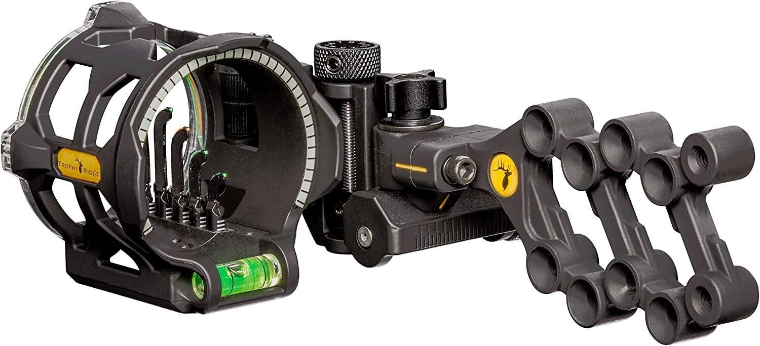 best bow hunting sights Trophy Ridge Peak 5 Pin Bow Sight