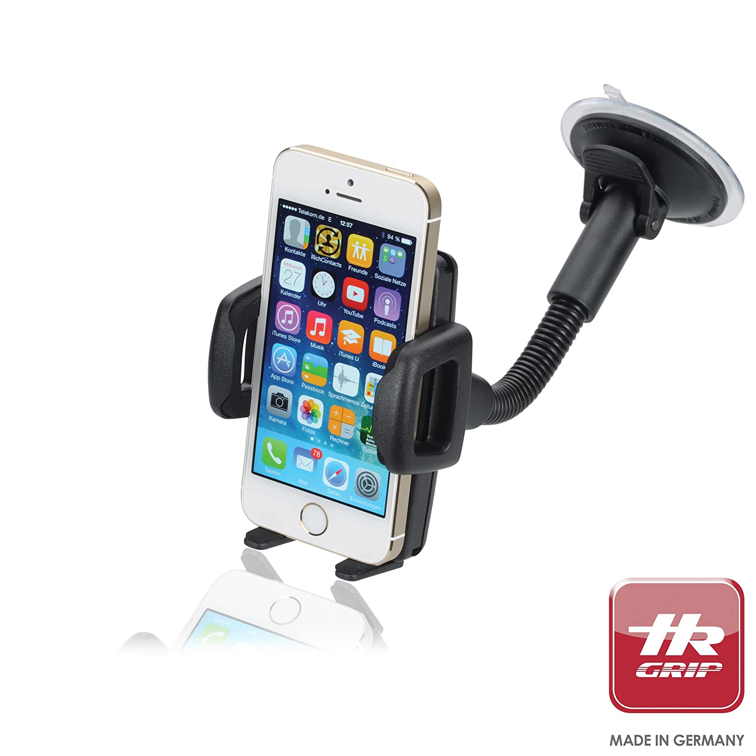 most 5 Smartphones and MP3 Players Samsung Galaxy S4//S3 HR Grip Flex Kit Universal Suction Dashboard and Windsheild Car Mount Holder for iPhone 5S//5C//5//4S//4