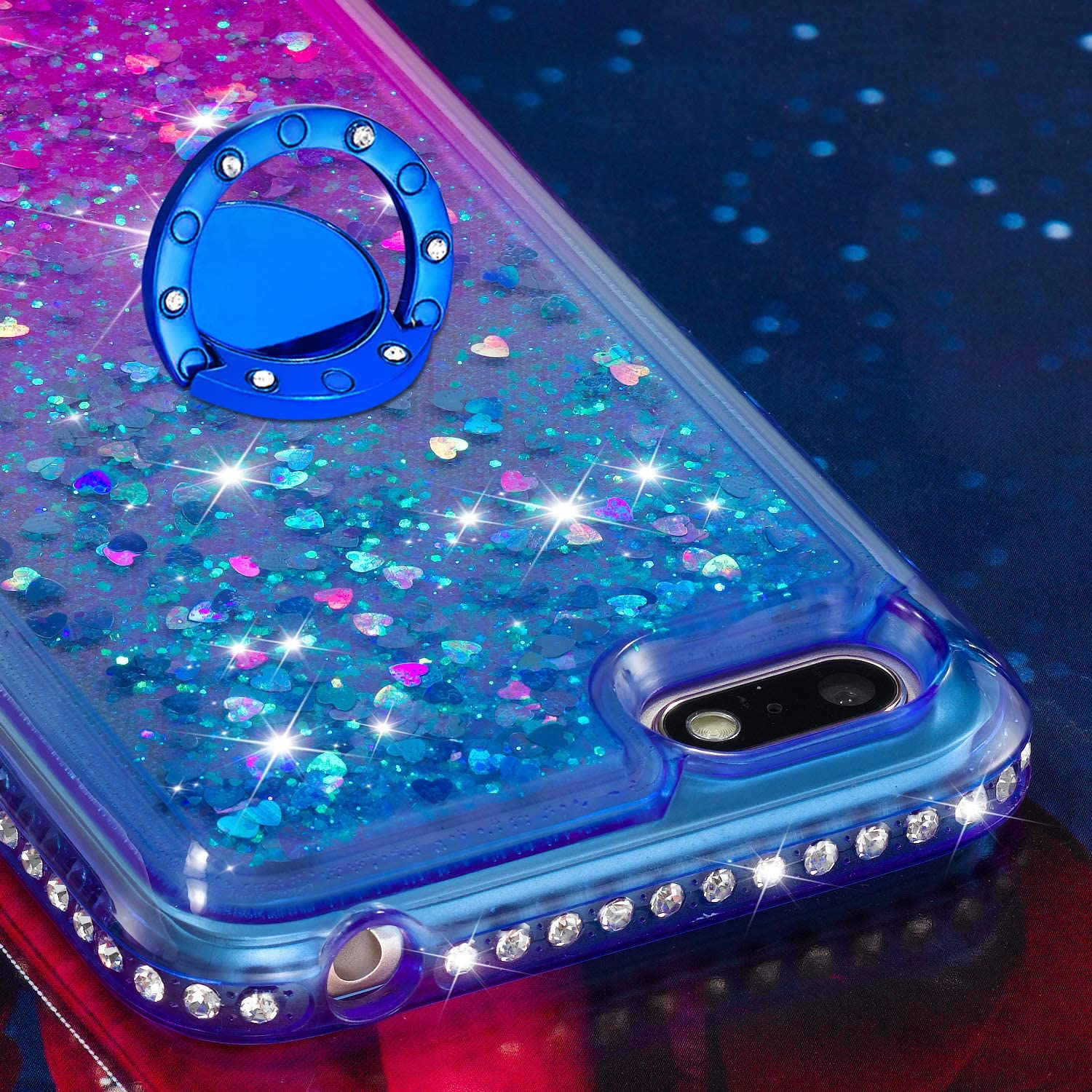 LOYBO490433 Ring #4 Lomogo Case for Huawei Y5 2018//Y5 Prime 2018 Glitter Silicone Shockproof Soft Rubber Bumper Case Non-Slip Back Cover Thin Fit for Huawei Y5 2018//Honor 7S