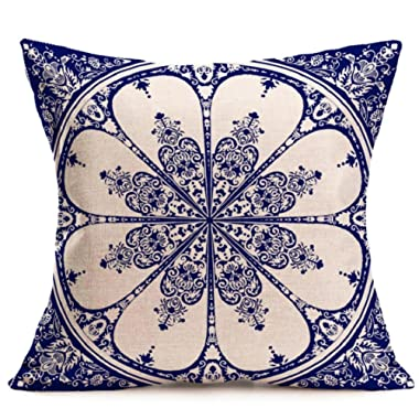 Vovomay Bohemian Pattern Home Decorative Throw Pillow Cover Cushion Case Square Pillowslip for Home Decor (Color E)