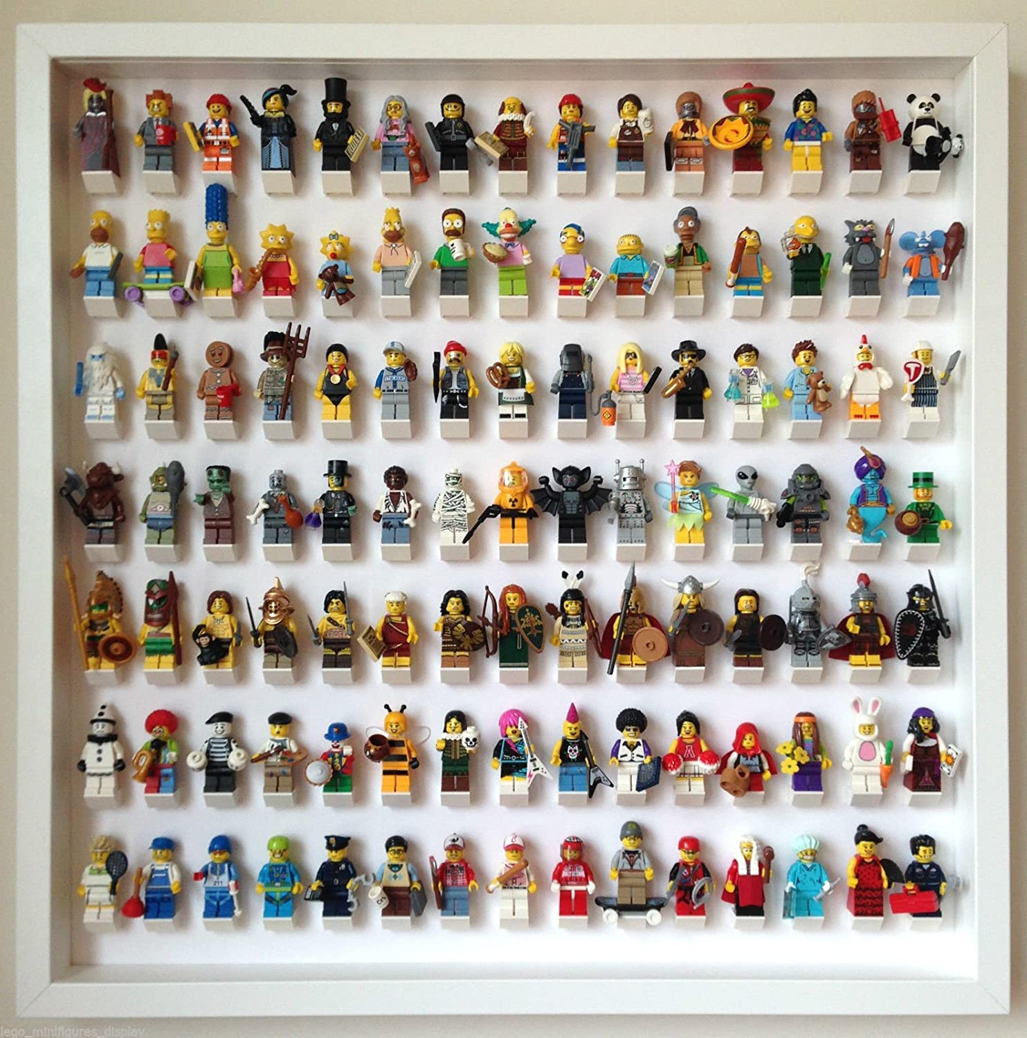 105 Lego Minifigures frame display (Blanco): Amazon.es: Juguetes y ...
