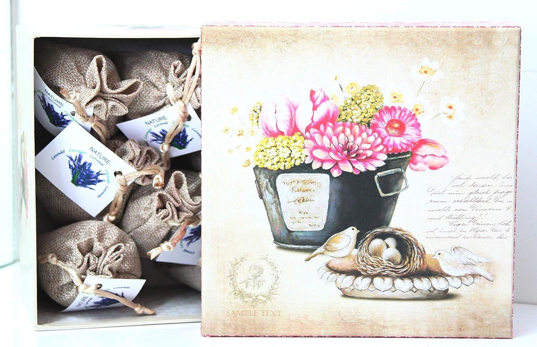 8 Direct Global Potpourri Lavendels/äckchen 8 x 20 Gramm Zum Entspannen und Dekorieren des Hauses dekorative Box Vogelnest Lavendelbeutel Lavendelbl/üten
