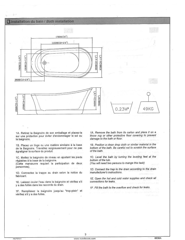 OVE Rachel Inch Freestanding Acrylic Bathtub Pure White - Corner garden tub dimensions