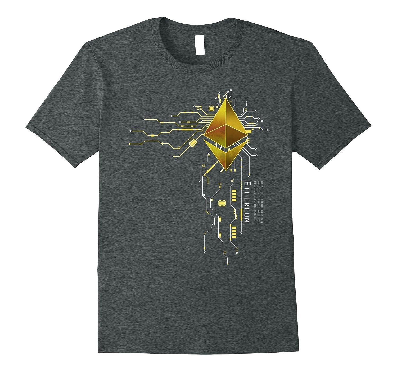 Mens Ethereum GOLD Heart T Shirt-Awarplus