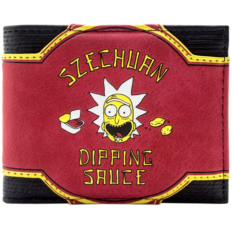 Cartera de Rick & Morty Szechuan Dipping Sauce 9 Temporadas más Rojo 30388
