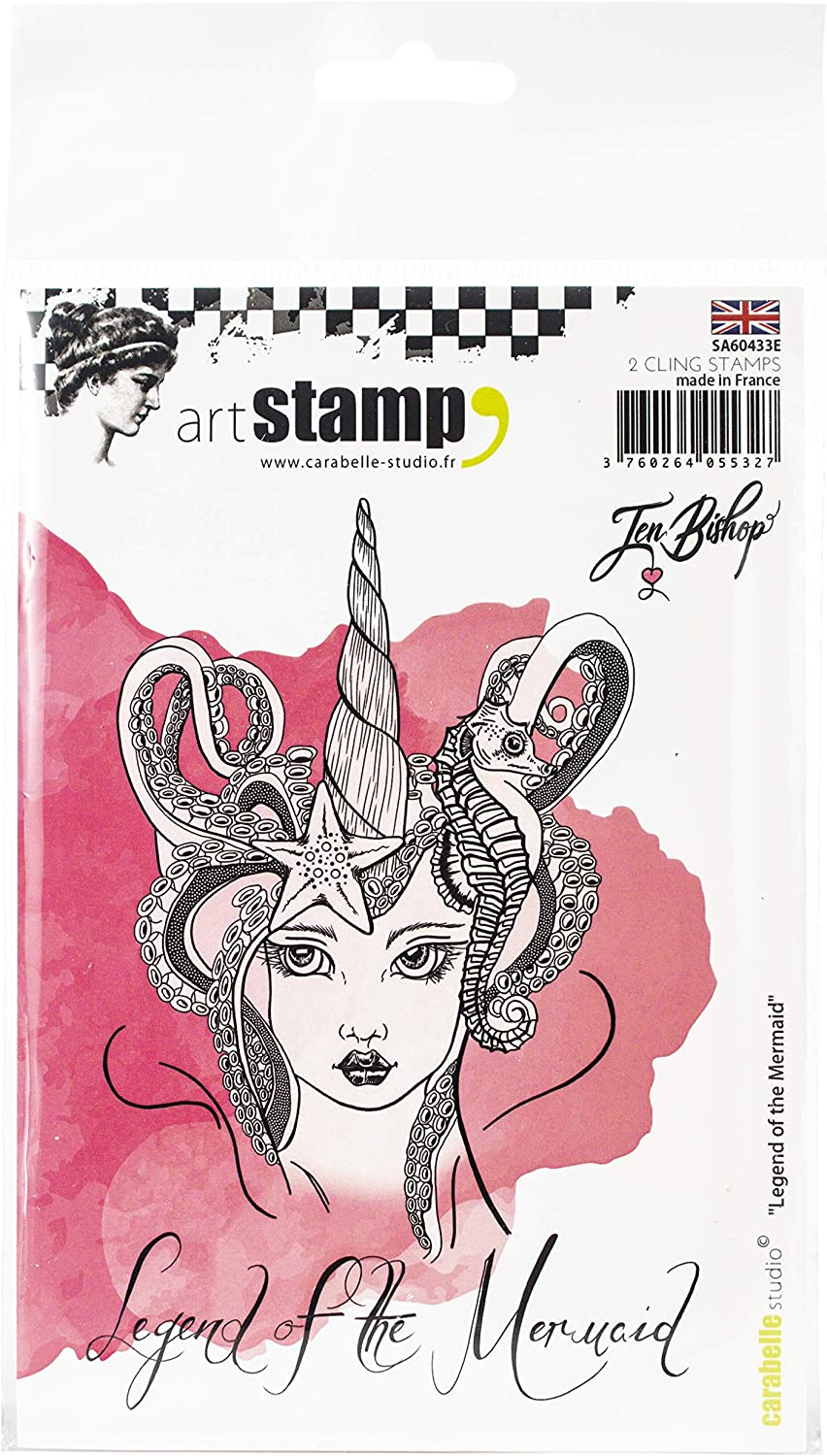 us:one size CARABELLE STUDIO CLING STAMP MAIL