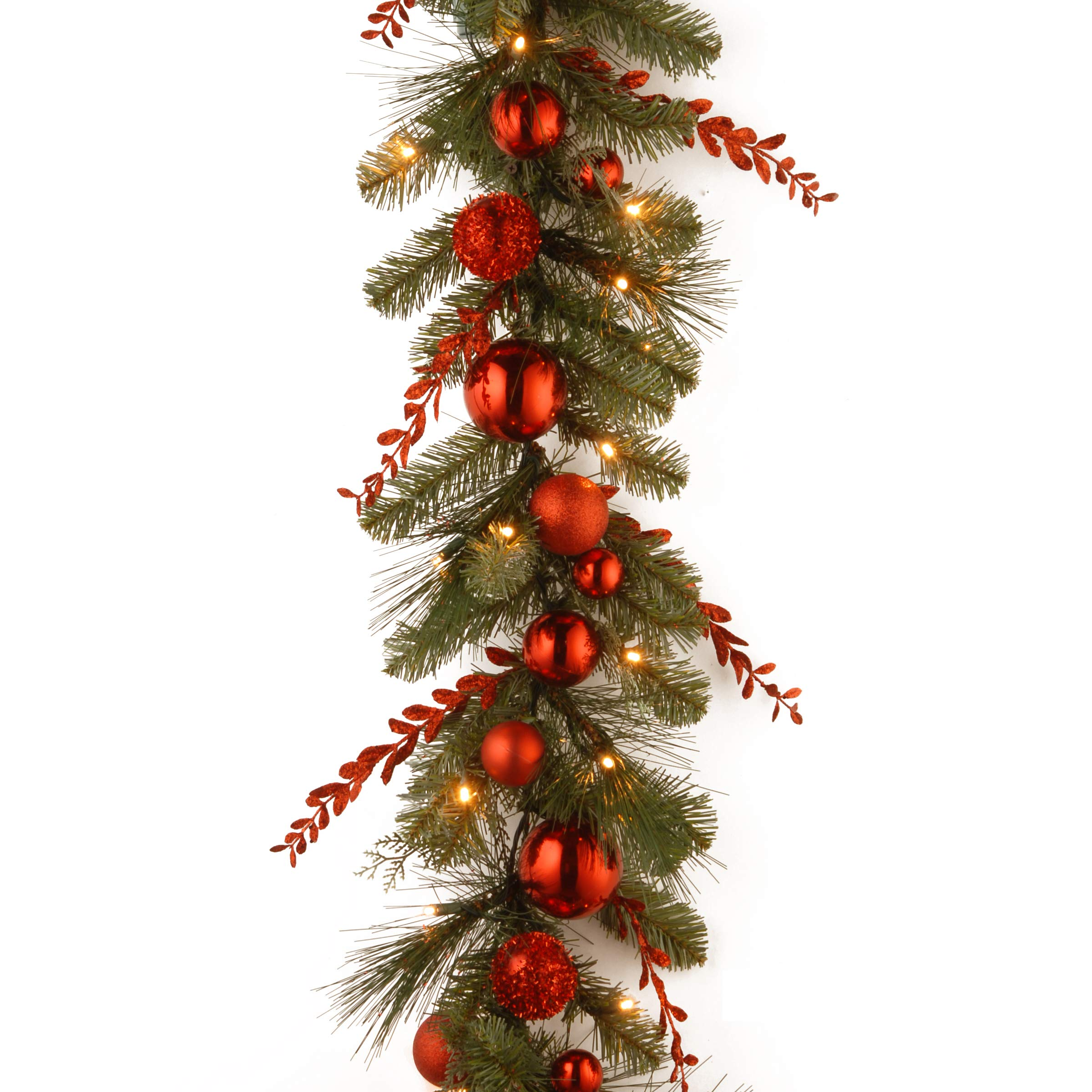 National Tree Company Pre-lit Artificial Christmas Garland Decorative Collection