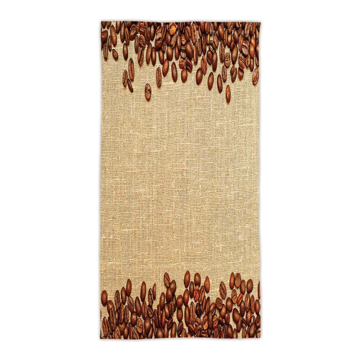 idouxi 31.49'' W x 62.99'' L Cotton Microfiber Bath/Hand Towel,Modern,Coffee Beans Backround Home and Cafe Designer Decoration Collection Straw,Brown Cream,Ultra Soft,For Hotel Spa Beach Pool Bath