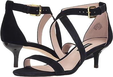 3b805d9406c Nine West Women s Xaeden Strappy Heel Sandal Navy Suede 6 M US