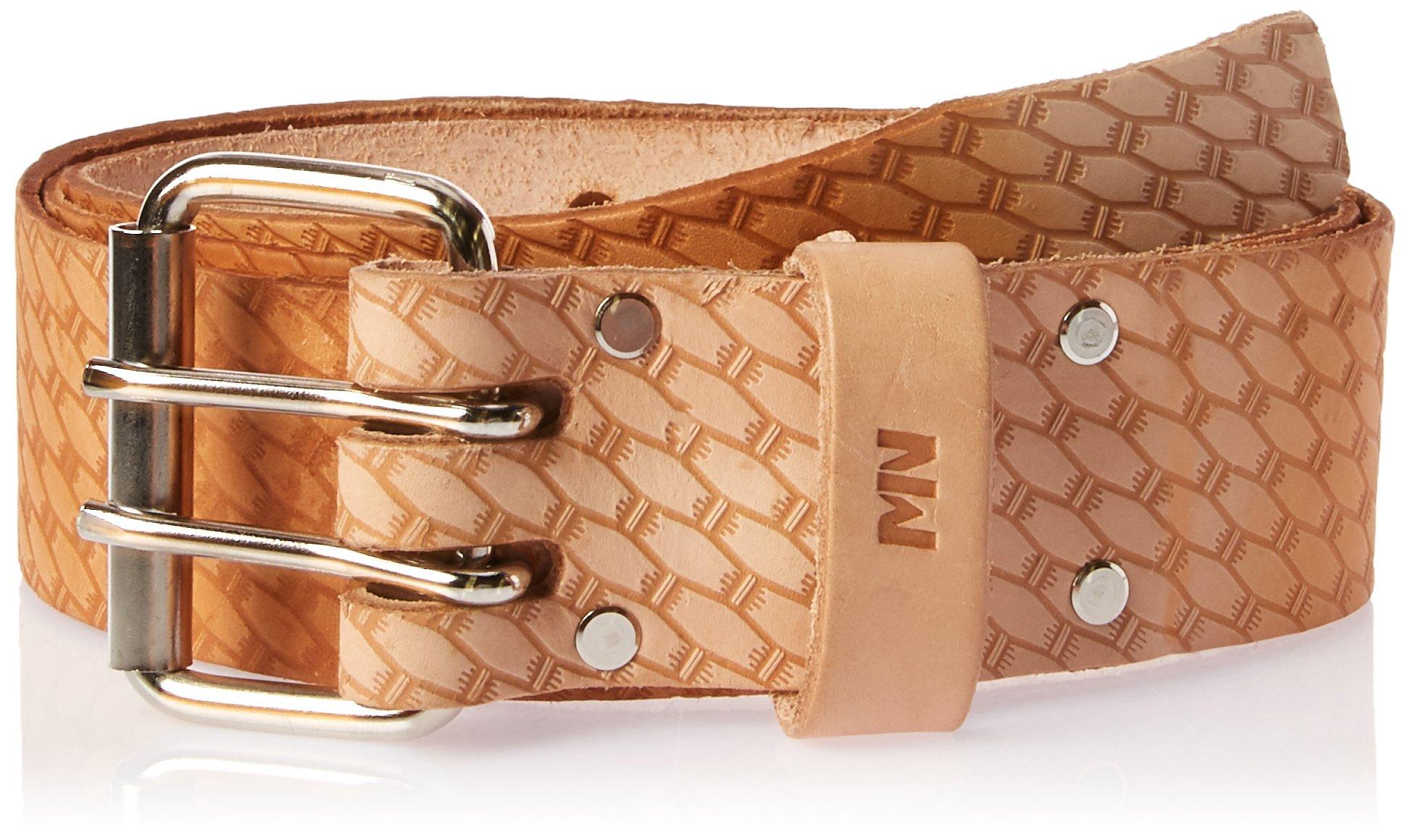 McGuire-Nicholas 960-XL 44-54'', 2'' Saddle Leather Belt, Natural