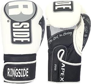 Ringside Apex Flash Sparring Gloves, WH/BK, 18 oz