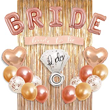 bachelorette party decorations bridal shower kit bride foil balloon ring foil balloon 2