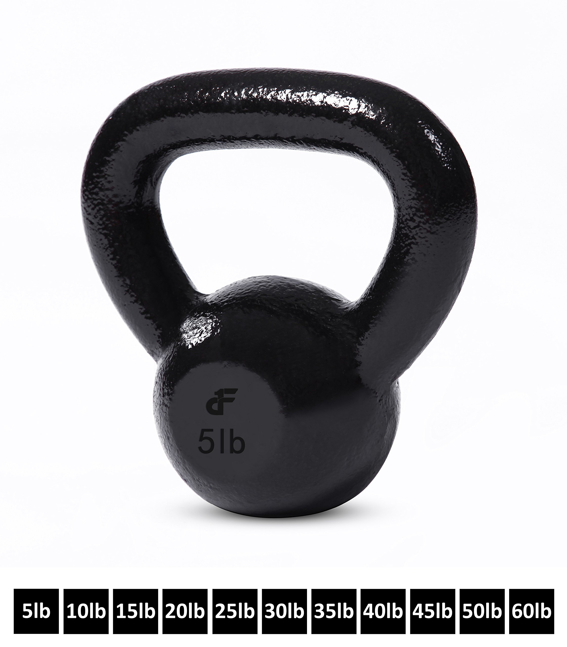 Kettlebell Weights Cast Iron by Day 1 Fitness – 5 Pounds - Ballistic Exercise, Core Strength, Functional Fitness, and Weight Training Set - Free Weight, Equipment, Accessories