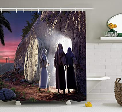 Amazon com: Afagahahs Religious Shower Curtain Finding The