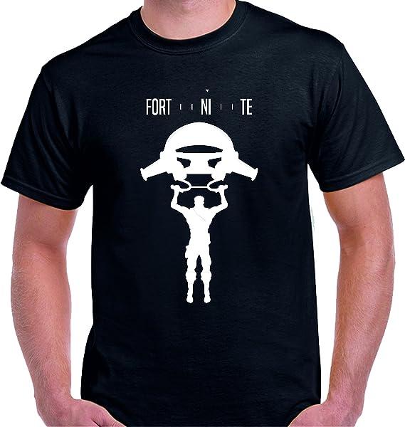 DrMugCollection Camiseta Fortnite Fly Black (L)  Amazon.es  Ropa y ... a41cd09f0a9