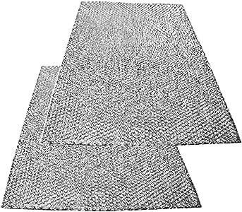 Spares2go grande aluminio malla filtro para Teka campana extractora/ extractor ventilación (Pack de 2 filtros, 89 x 48 cm): Amazon.es: Hogar